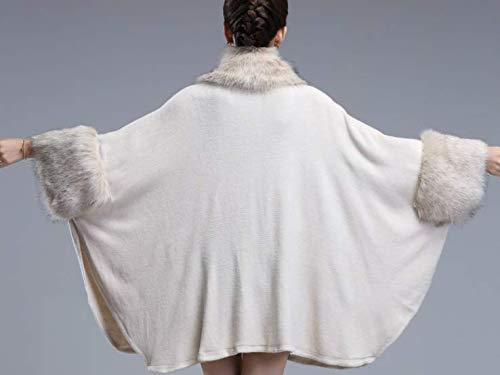 Cape Beige Femme Unique Plaer Manteau Taille p5T77q