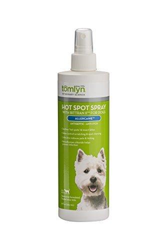 Tomlyn Hot Spot Spray with Bittran II (Allercaine(TM)) Antiseptic Anti-Itch Spray Dogs, 12 oz by Tom Lyn