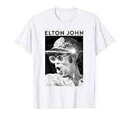 Black & White Photo Sequin Cap T-Shirt