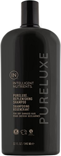 Intelligent Nutrients Environmental Size PureLuxe Replenishing Shampoo - Aloe-Based Shampoo with Baobab Protein for Dry & Damaged Hair, Silicone & Sulfate-Free (32 oz)
