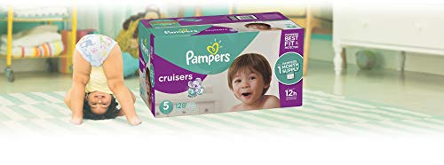 Large Product Image of Pampers Cruisers Disposable Baby Diapers, Size 5, 128 Count, ONE MONTH SUPPLY