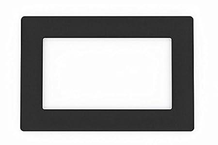 Focus Plastics DOUBLE LIGHT SWITCH SOCKET COLOURED ACRYLIC SURROUND FINGER  PLATE - HUGE COLOUR CHOICE (Black)