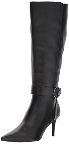 Nine West Women's Moretalknw Synthetic Knee High Boot Black Wide Synthetic