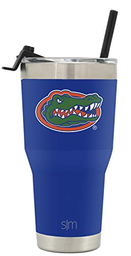 Gator Tumbler - Simple Modern College 30oz Tumbler Straw Florida