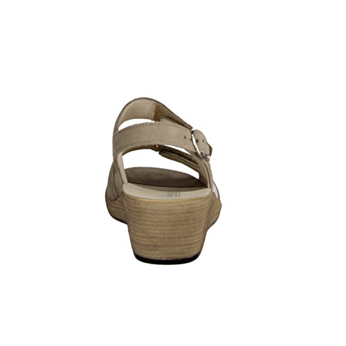 Diseño de pasillo, 581012-621-094, Hamida, mujer Comfort sandalia, beige/Viper-Korda