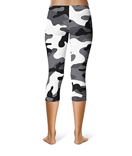 Camouflage Da Fitness Pantaloni Donna Yoga Jogging Leggings Workout Style Fashion Corsa Festa Stretch Sport Skinny Bianca qUwt4d4I