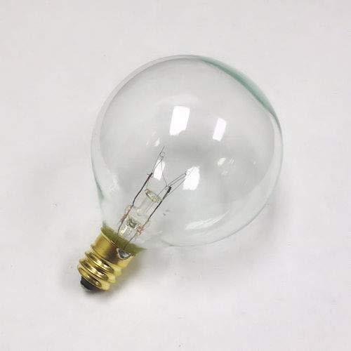 Sival G50 Globe Light Bulb, 7 Watts, candelabra (E12) base, 2'' Diameter, pack of 25