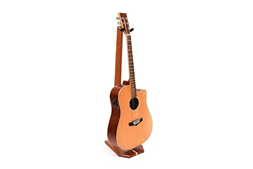 Ruach GS-5 Wooden Guitar Stand for Acoustic and Electric Guitar - Handmade from Mahogany and Maple