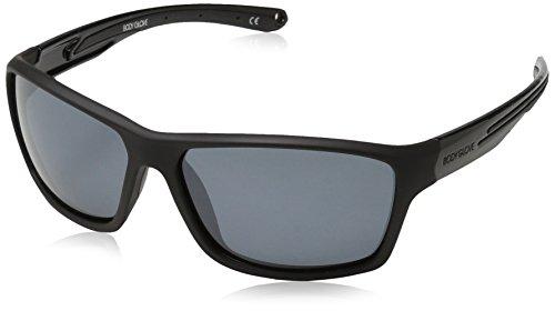 Body Glove Fl 26 Polarized Wrap Sunglasses, Rubberized Black, 61 ()
