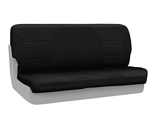 (Coverking Custom Fit Front Bench Seat Cover for Select Chevrolet Models - Velour (Black))