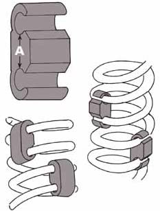 Set of 4 Specialty Products Company 24790 1-1//2 Coil Spring Stabilizer,