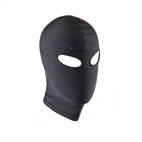 BESTOYARD Full Face Blindfold Mask Elastic Breathable Open Eyes Zentai Cosplay Costume Hood Mask Unisex Headgear - Size L ()