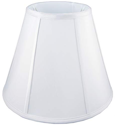 "American Pride 3.5""x 8""x 6"" Round Soft Shantung Tailored Lampshade, White"