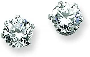 Chisel Stainless Steel 4mm CZ Stud Earrings