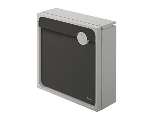 【KS-MAB1-LK-LB】 ナスタ ポスト W450×H450/上入前出/壁付防滴タイプ ライトグレー×ブラック B0711XJ297