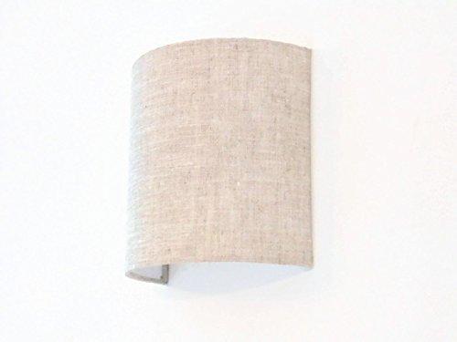 Applique murale demi cylindre luminaire lin lune idée cadeau