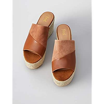 Brand - find. Women's Wedge Mule Leather Espadrille Slip-On Sandals: Shoes