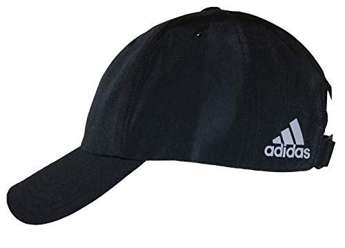 adidas A605 Performance Poly Relaxed Golf Hat with Rear Logo (Black)