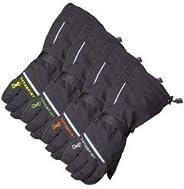 MotorFist Redline Black/Green Medium Gloves