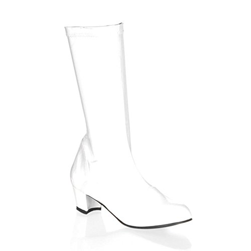 Funtasma by Pleaser Little Kid/Big Kid Chacha Boot,White Patent,Small (US Little Kid 11-12 M) by Funtasma