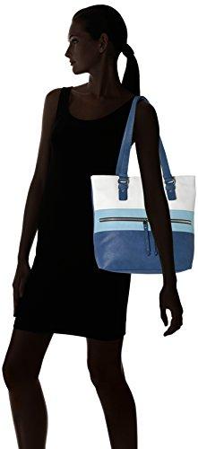 TOM TAILOR Damen Marit Tote, 10x32x37 cm Blau (Blau)