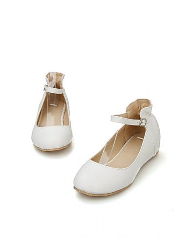 verde us8 rosa blanco piel plano Flats Ballerina white mujer talón eu39 de zapatos casual PDX vestido de cn39 uk6 sintética w6O7xa