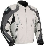 Fieldsheer Sugo Tour Men's Textile Sports Bike Motorcycle Jacket - Black/Silver / Large - Fieldsheer Street Bike