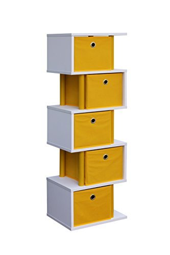 4D Concepts Zig Zag 5 Drawer Storage Tower in ()