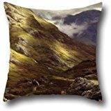 - Pillowcover Of Oil Painting Peter Graham - Wandering Shadows,for Birthday,valentine,home Theater,outdoor,indoor 16 X 16 Inches / 40 By 40 Cm(both Sides)