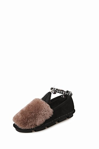 de Zapato Shoe Zapato Algodón Fino Plano para Mujer con de Zapato Estudiante EUR36 Cachemira negro 5 para Zapatos Blush 564BwqxqI