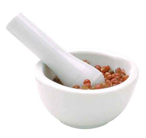 Norpro 691D Porcelain Mortar & Pestle, Mini