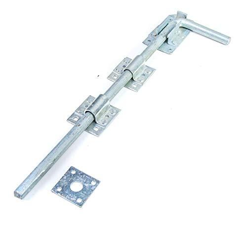 Long 18″ Galvanised Drop Bolt   Garage/Gate/Door Lock