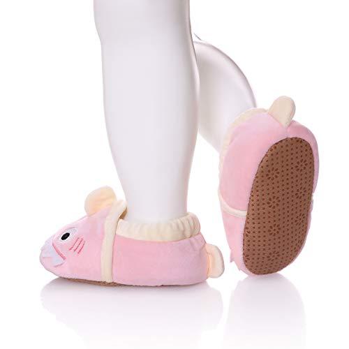 SDBING Toddler Baby Boys Girls Cute Cartoon Shark Shoes Soft Anti-slip Winter Home Slippers 6-24 Months (12-18 Months, Cute Shark Pink) by SDBING (Image #2)