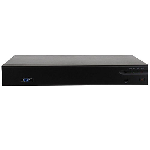 GW 32 Channel H.265/H.264 4K (3840×2160) NVR Security Network Video Recorder - Supports Up 32 X 8MP/5MP/4MP 1080P Any ONVIF IP Camera @ 30fps Realtime, Hold Up to 4x SATA HDDs by GW Security Inc