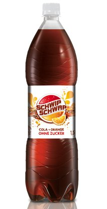 German Schwip Schwap Cola + Orange Sugarfree 6 X 1,5 Liter