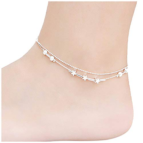 Nurbo 1Pair Little Star Women Chain Ankle Bracelet Barefoot Sandal Beach Foot Jewelry