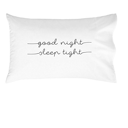Oh, Susannah Good Night Sleep Tight Kids Pillowcase (2 Lines) - Fun Kids Quote Pillowcase - (One 20x30 Inch Pillowcase Fits Standard Size Pillow) Kids Room Decor