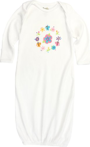 Funkoos Flower Ring Organic Baby Sleep Gown for Newborn Baby Infant Girl