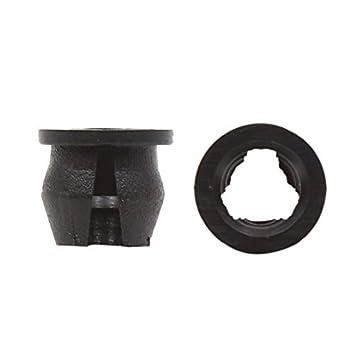 eDealMax 100 piezas de plástico Negro Push Pin Interior de moldeo Sujetador Clips 15 mm Para
