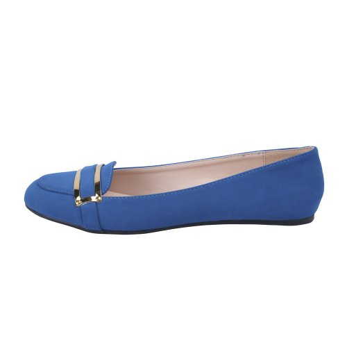 Color Band 7 Casual TORY Flats Comfort Bonnibel with Size BLUE Front around Womens 5 A 1 4wpUxqR