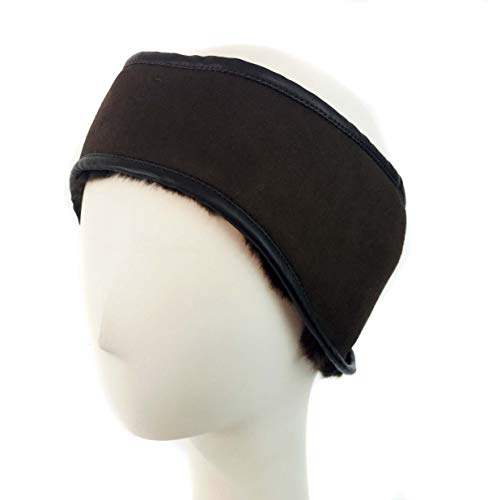 Surell Faux Shearling Headband Headband - Winter Fashion Sheepskin Ear Warmers (Brown)