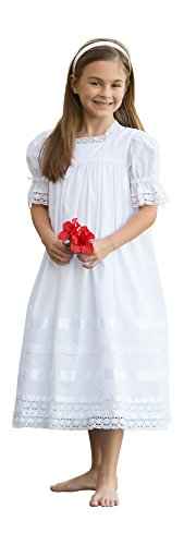 Strasburg Children Lace Flower Girl Dress Vintage Heirloom Little Girls Dresses White Ivory by Strasburg Children