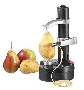 Electric Peeler Automatic Rotating Apple Peeler Potato Peeling Multifunction Stainless Steel Fruit and Vegetable Electric Peeler Machine (Black)