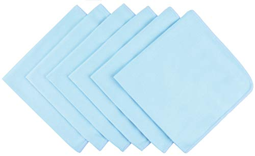 Microfiber Glass Cleaning Cloths Dish Rags Lint free Scratch Free Polishing Cloths for Dishes Eyeglasses Car Stainless Steel Appliances Mirrors Screens Camera Lenses etc 16Inch x 16Inch 6 Pack Blue