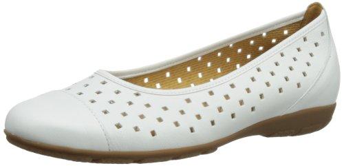 Gabor Ruffle L - Bailarinas de cuero mujer Blanco