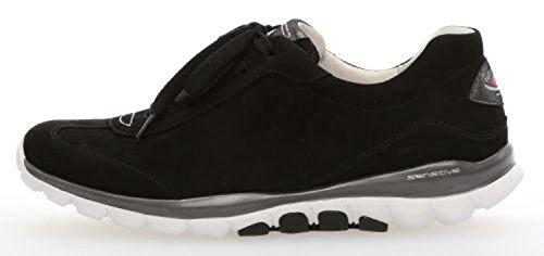 Gabor Comfort 86.965-47- Scarpe Sneaker Da Donna, Nero, Altezza Tacco: 20 Mm Nero