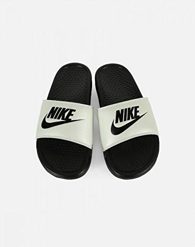 lowest price ac887 9225e Galleon - Nike 343881-008  Women s Benassi JDI Spruce Aura Black Slides (6  B(M) US Women)