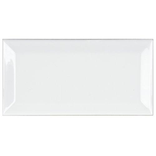UPC 732763204561, Travessa Biselada Blanco 3 X 5 7/8 Inch Glazed Ceramic Wall Tiles (64 Pcs/8 Sq. Ft. Per Pack, $1 Standard Shipping)