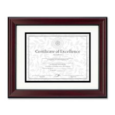 Burns Grp. Rosewood and Black Document Frame