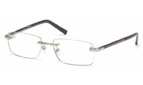 016 Metal (MontBlanc Men's MB0432 Rimless Metal Frames SILVER 56)